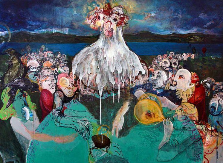 korsi sher Aaran gallery گالری پروژه های آران نمایشگاه نقاشی رنه صاحب قدم کرسی شعر